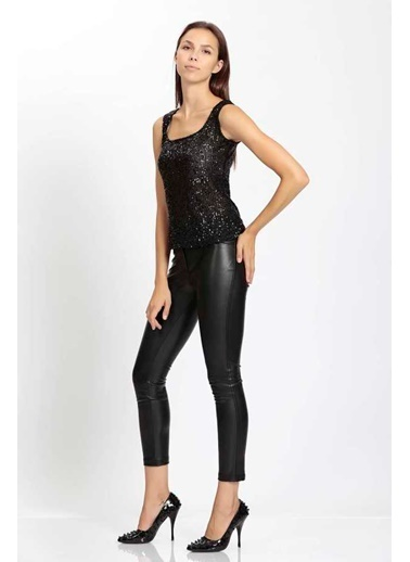 Vitrin VİTRİN Basic Bluz Pullu Siyah
